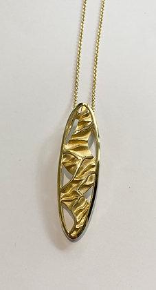 Silver gilt pendant