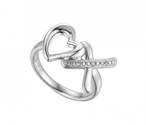 'Hearts and kisses' ring