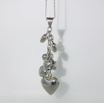 Silver multi heart pendant