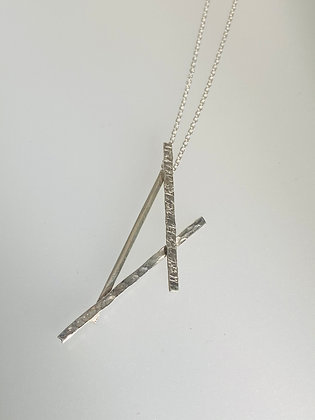 Silver abstract pendant
