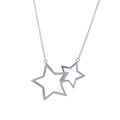 Linked stars necklace