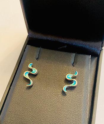 Ortak Mirran Ripples stud earrings