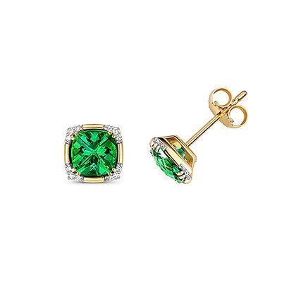 9ct green topaz earrings