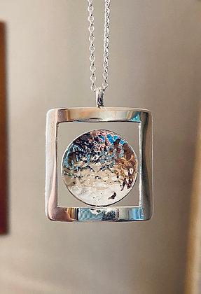 Circle in square pendant