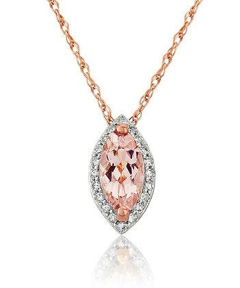 9ct rose gold morganite pendant