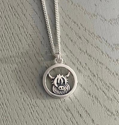 Mini Highland Cow pendant