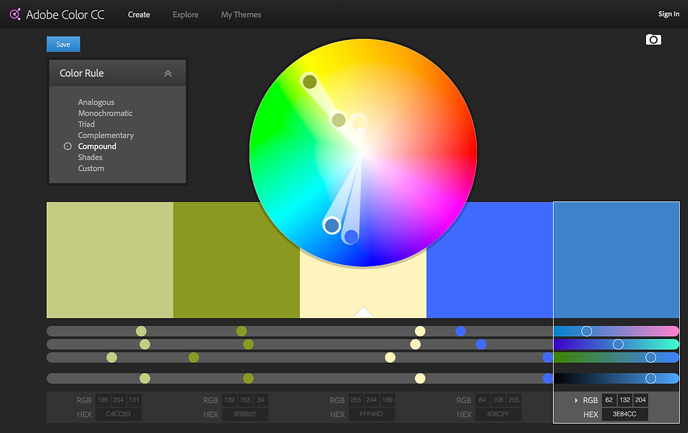 Adobe CC Color Wheel