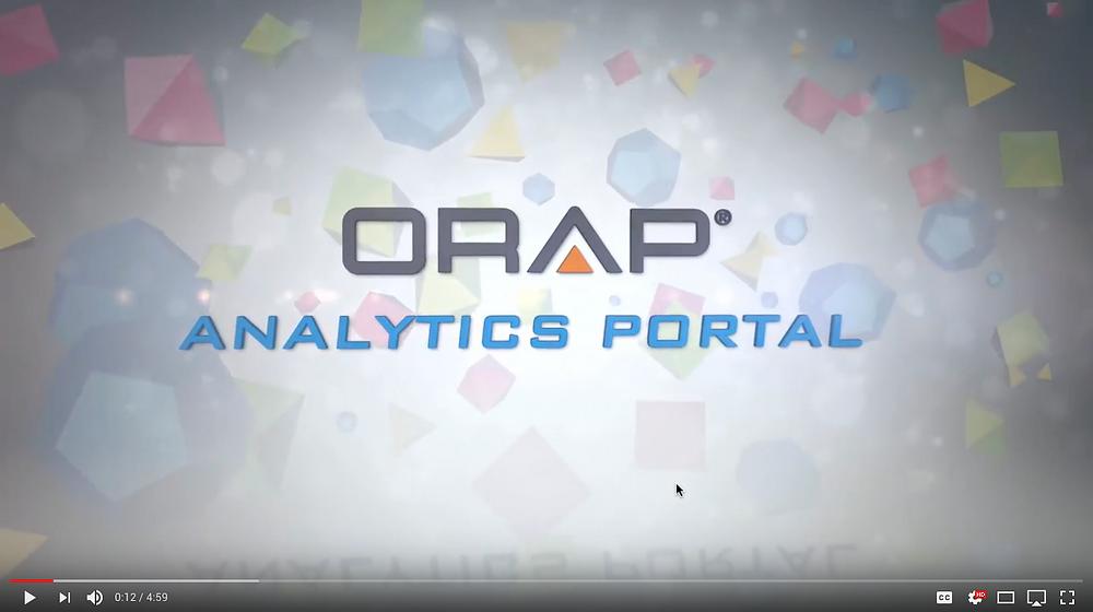 ORAP Analytics Portal Intro Video