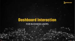 Sisense Dashboard Interaction for Business Users
