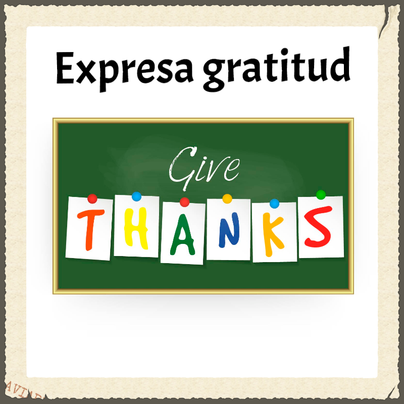 Muestra gratitud