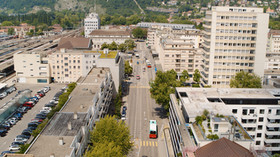 Stadt Biel, DROHNE, Drohnenaufnahmen, Flugaufnahmen, Bern, Biel