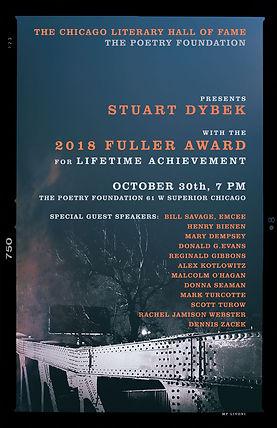 2018 Fuller Award for Stuart Dybek, Bridge version, designed by Mary Livoni