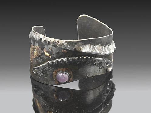 Iron Bracelet With Amethyst