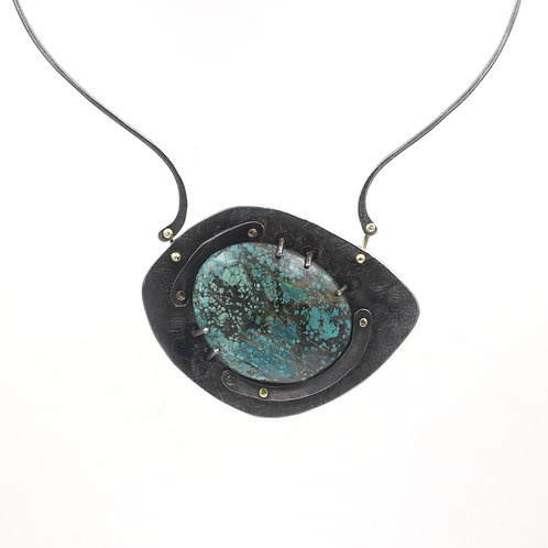 Statement Necklace with turquoise