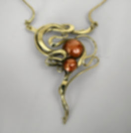 Forged Bronze and Copper Necklace