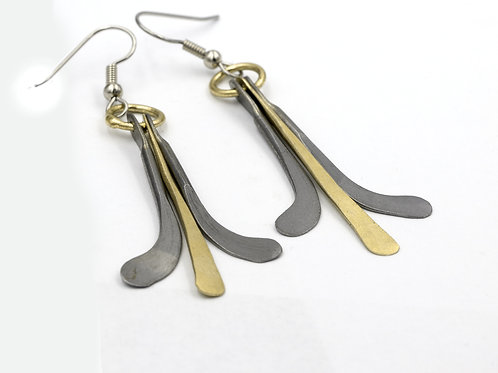 Iron and Bronze Earrings