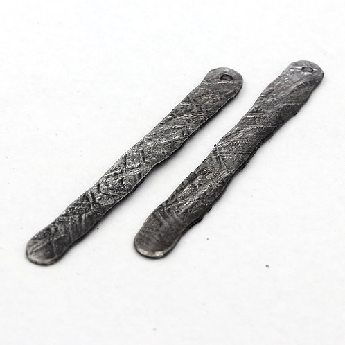 Textured Iron Earrings