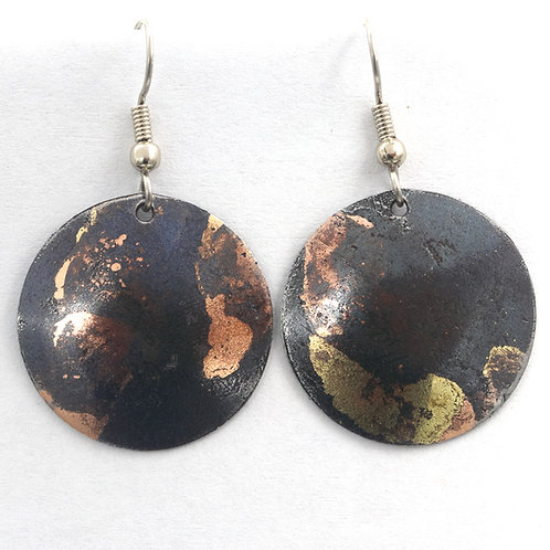 Round Inlay Earrings