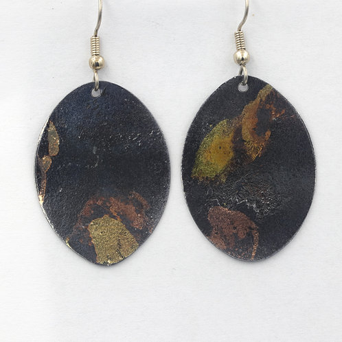 Oval Inlay Earrings