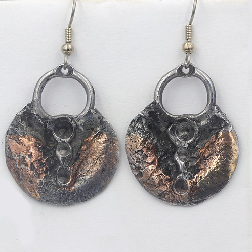 Iron Earrings With Inlay