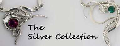 Contemporary iron, bronze and silver jewelry.