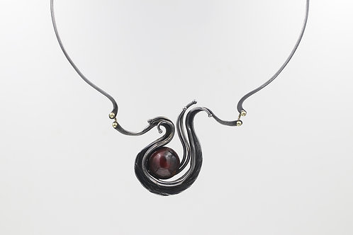 Iron Necklace With Copper