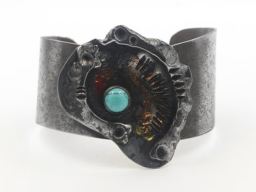 Iron Bracelet with Turquoise