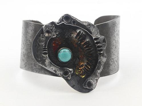 Iron Bracelet with Turquoise