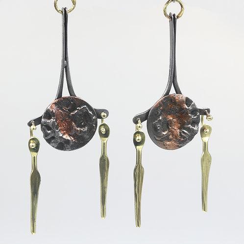 Mixed Metal Earrings