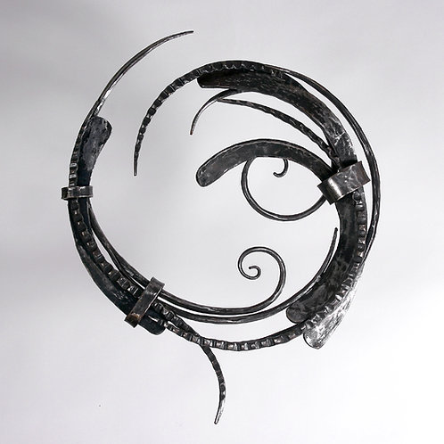 Forged Steel Round Wall Sculpture