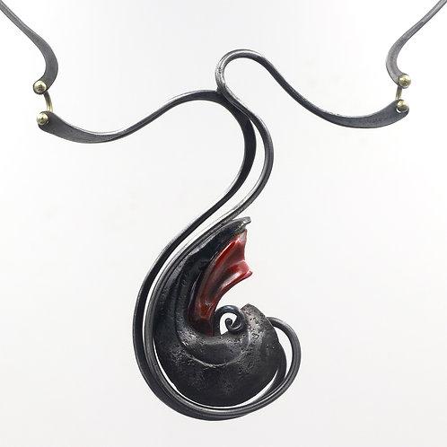 Fine Art Iron and Copper Necklace