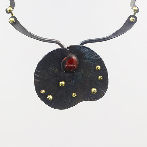 Iron Necklace with copper and bronze