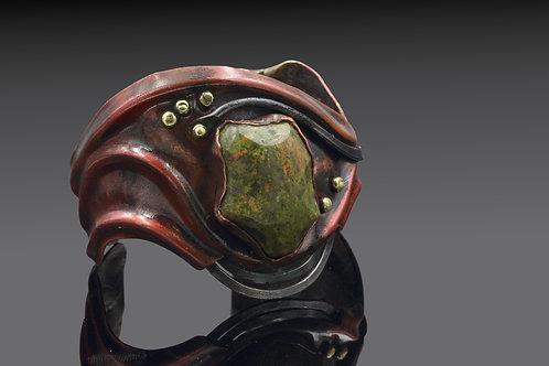 Copper, Iron and Unakite Bracelet