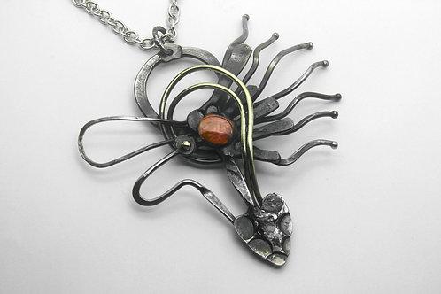 Fine Art Iron, Copper and Bronze Necklace