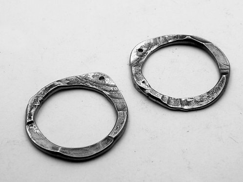 Forged Hoop Earrings