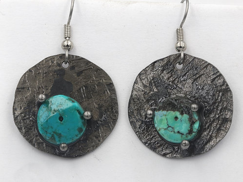 Iron Earrings With Turquoise