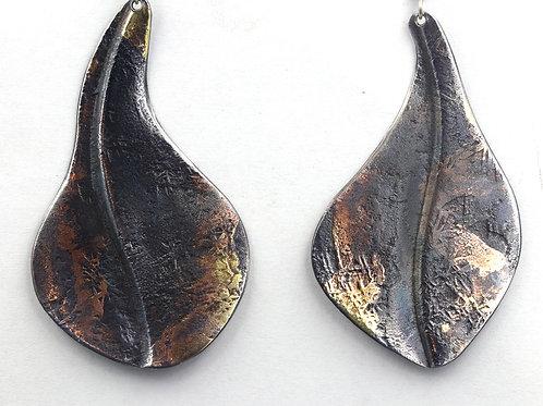 Iron Inlay Earrings