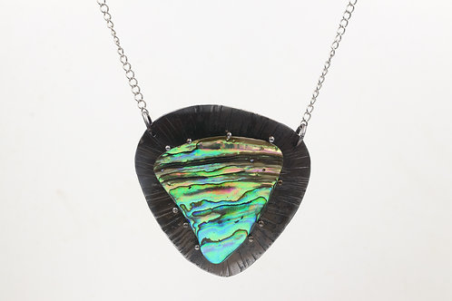 Iron Necklace With Paua Shell