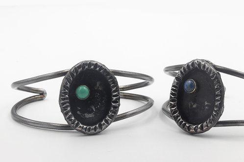 Iron Bracelet With Stone Accent