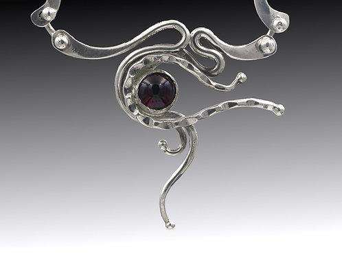 Fine Art Necklace with Garnet