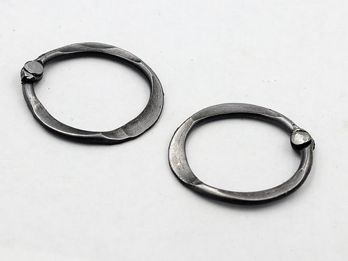 Riveted Iron Earrings
