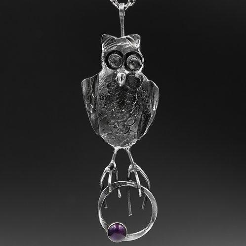Iron Owl Necklace