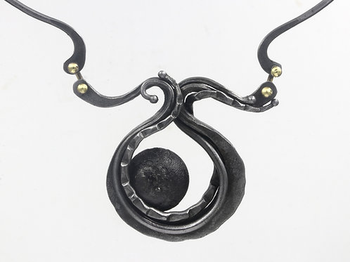 Forged Iron Necklace