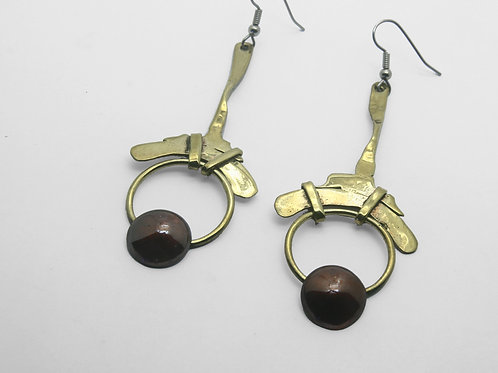 Bronze and Copper Earrings