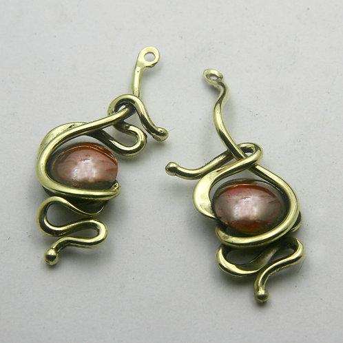 Sculptural Bronze Earrings