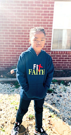 Navy Fit Faith Hoodie Kiddo