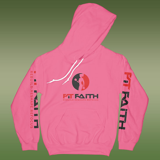 Breast Cancer Awareness Fit Faith Hoodie