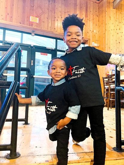 Kids Hott Fit Faith Tee (Black)
