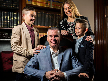 Terry Mitropoulos named Victorian Father of the Year 2016