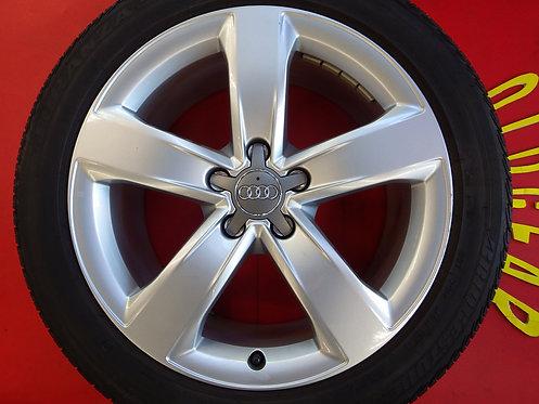 美品 Audi アウディ A6 4G 純正 18インチ 4本セット ブリヂストン トランザ AO アウディ承認 流用やノーマル戻しに